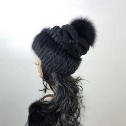 """Меховая шапка """" Ермолка#3"""" мех ондатра , цвет черный"""