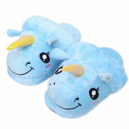 Тапочки Единорог Голубой (2)