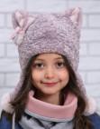 "Зимняя шапка для девочки ""Киска"""