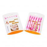 Шнурки силиконовые розовые (упаковка 6 шт.) арт s006