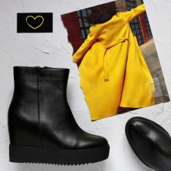 Кожаные ботинки на скрытой платформе. New collection 17-18!