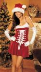 Кокетливое платье Снегурочки для Санты