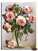 ХИТ!!  Папертоль Букет роз в вазе
