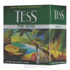 Tess Pina Colada Green 1,8г х 20  пак/пирамидки