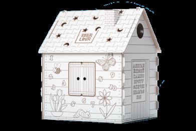 Дом - раскраска bibalina
