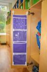 Кармашки для шкафчика, 5 отделений, фиолетовый, 72*20 см