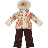 Зимний комплект Kiko для девочки РУФИНА (бежевый), 3-8 лет