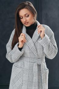 Пальто 20550 (серый/клетка)