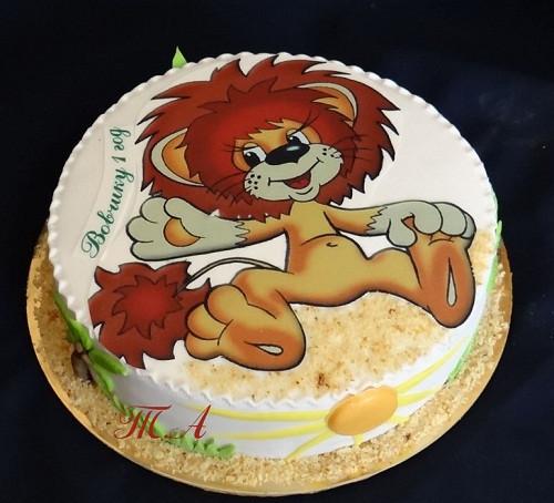 Торт со львенком фото