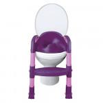 детское сидение на унитаз со ступенькой пурпурно-розовое