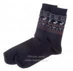 Н434/3 Мужские носки (т.синий/ оранжевый)