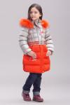 Пальто для девочки, био-пух