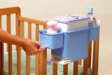 Полочка-контейнер на детскую кроватку