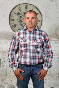 Рубашка шотландка, длинный рукав (модель: М-20)