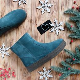 Замшевые мега удобные ботинки-угги. New collection