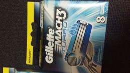 Gilette mach 3 turbo 8 шт лезвия
