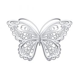 Серебряная брошь 94-140-00674-1 Diamant