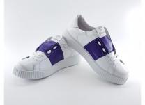 Кроссовки женские Амели 2 Белый+фиолетовый