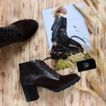 Удобные ботинки в цвете шоколад. New collection
