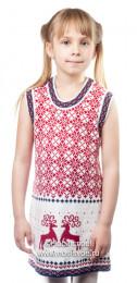 9203 Платье для дев. (бело-красный)