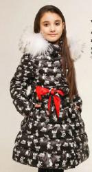 Пальто для девочки ПРИНТ МЫШИ