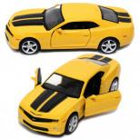 Инерционная машинка Chevrolet Camaro, Желтая 13см (1:32)