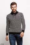 Мужской свитер 17424 черный белый