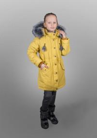 Пальто парка для девочки  - (искуственная опушка)