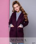 Пальто №636-Бордо
