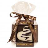 """Шоколад белый """"Сердце ванильное"""" в пакете 30 г  НОВИНКА"""