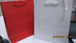 пакет белый  бумажный 19х23 Пакет красный бумажный 19х23