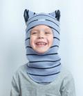 """Шапка-шлем для мальчика """"Волчонок"""" (весна/осень), 52-54 см"""