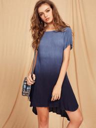 Модное платье c переходом цвета