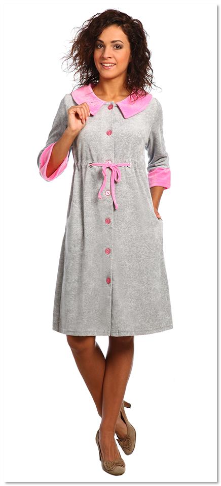 Платье на пуговицах как халат