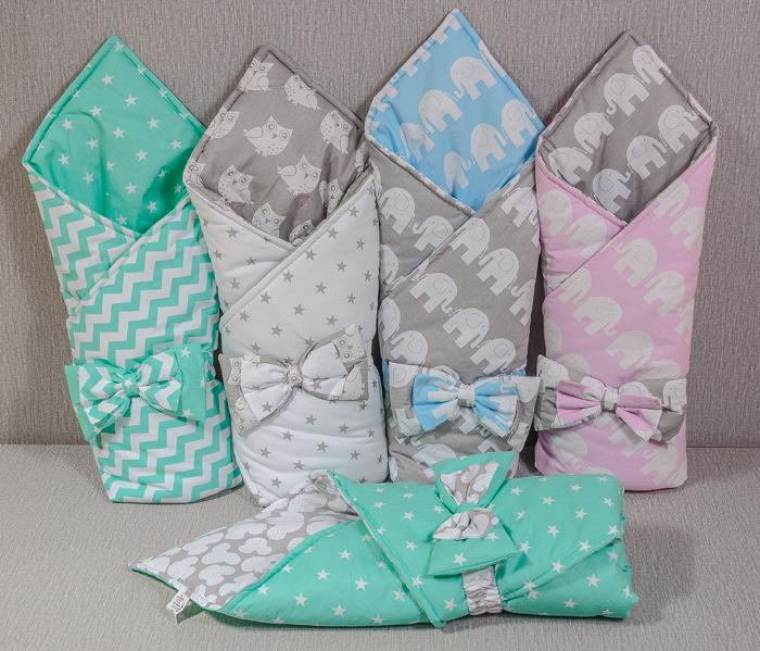 Конверт одеяло на выписку для новорожденных 182