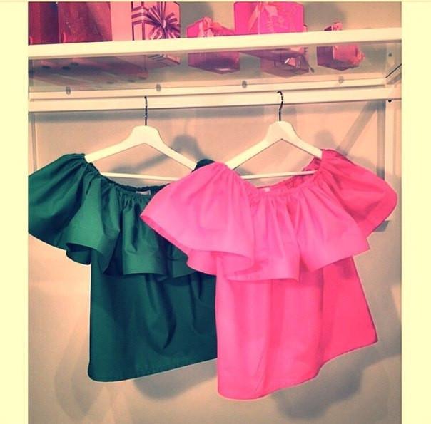 Блуза с оборкой сшить