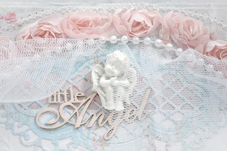 Альбом для девочки в стиле Шебби. Пятый разворот