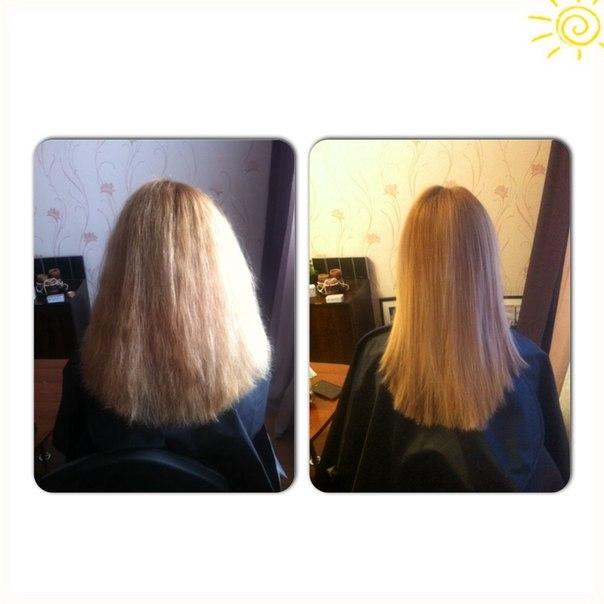 Кератиновое выпрямление и лечение волос!!!