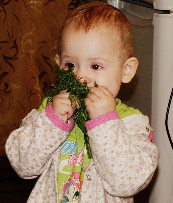Зелёный борщ среди зимы))))