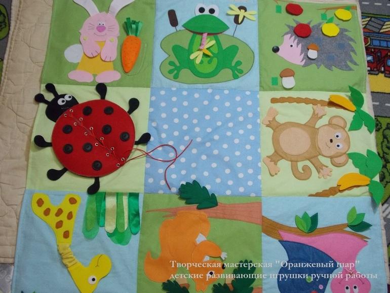 Выкройка развивающий коврик для детей своими руками 34