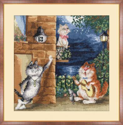 """Ищу схемку с котами """"Трудный"""
