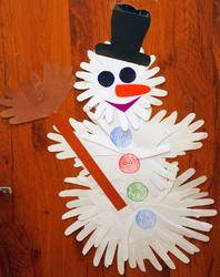 Новогодние поделки своими руками из бумаги снеговиков