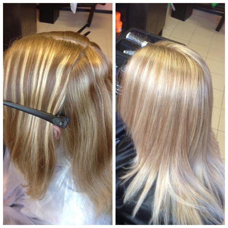 Как будет если сделать мелирование на крашенные волосы