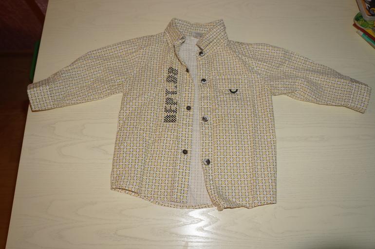 модная рубашка 74 см    250 руб