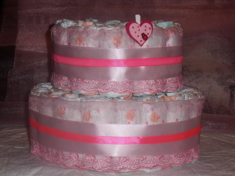 Мои тортики из памперсов на подарочки новорожденным!
