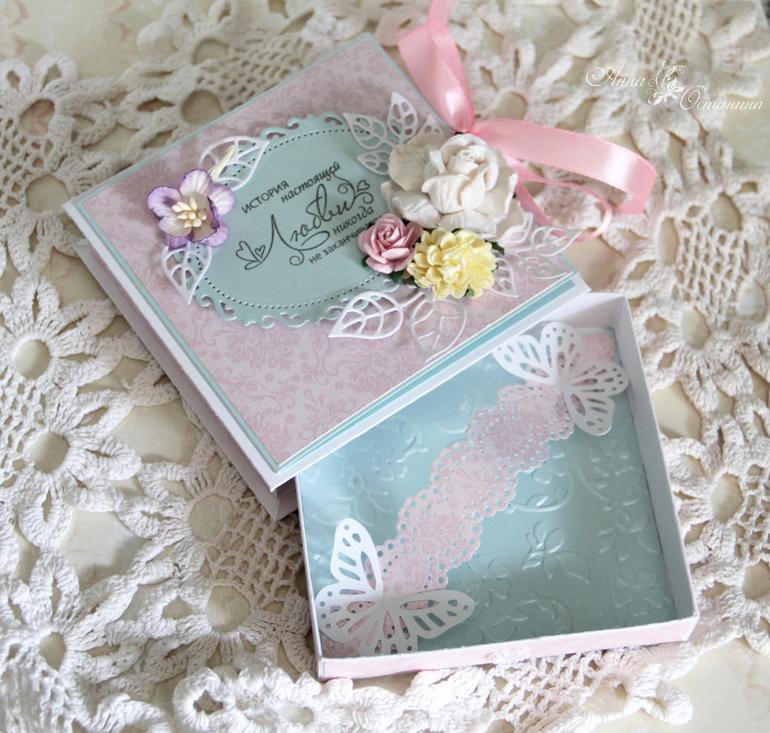 Коробка открытка на свадьбу 68