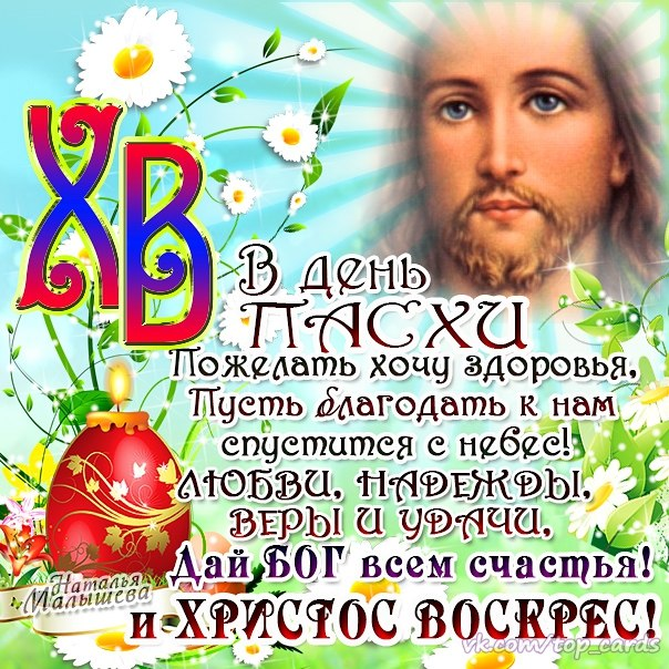 Поздравления с днем христос воскрес