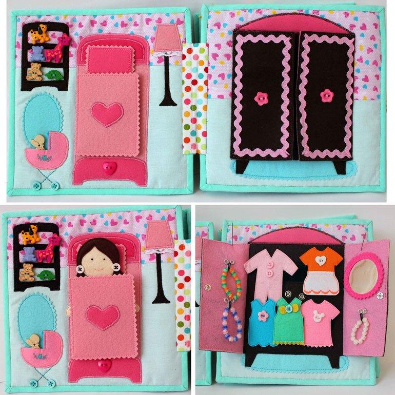 Кукольные домики из фетра своими руками