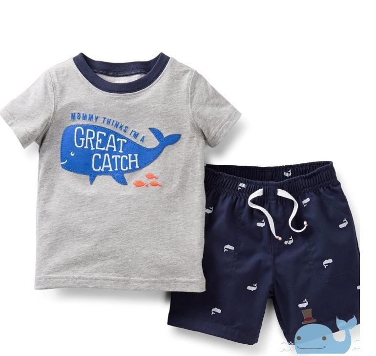 Carters Комплект «Большой улов» шорты + футболка