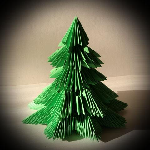 Как делать елки из бумаги фото своими